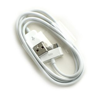 Synchronizačný a nabíjací USB kábel pre iPhone / iPad / iPod - biely