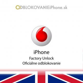 Odblokovanie iPhone 3G, 3GS, 4, 4S - Vodafone UK