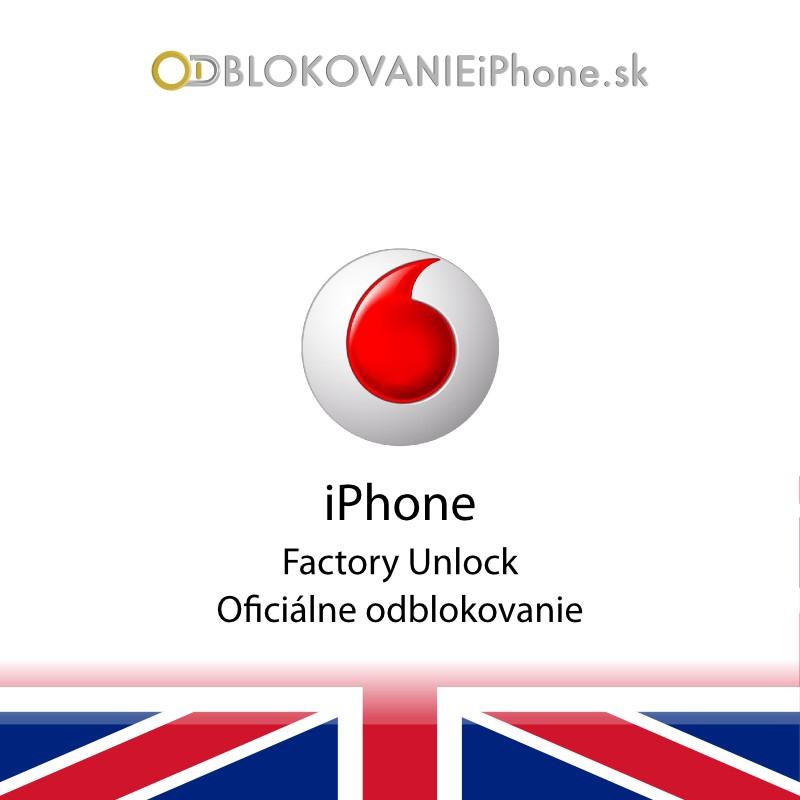 Odblokovanie iPhone 5 - Vodafone UK