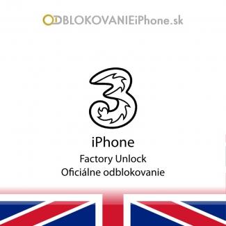 Odblokovanie iPhone 3G, 3GS, 4, 4S - Three UK