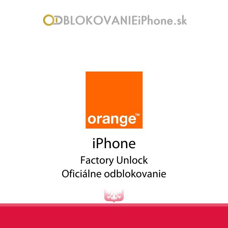 Odblokovanie iPhone 3G, 3GS, 4, 4S, 5 - Orange Poland
