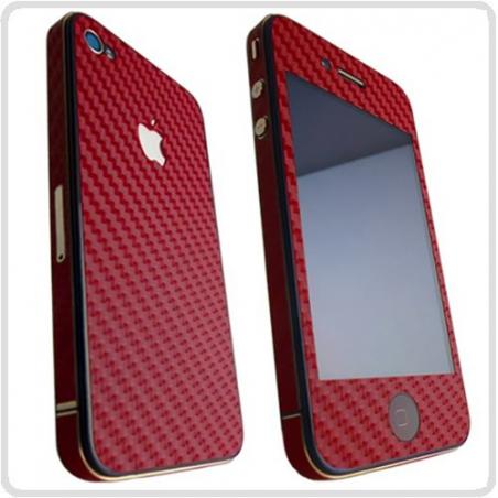 Karbónová fólia pre iPhone 4 / 4S komplet - rôzne farby