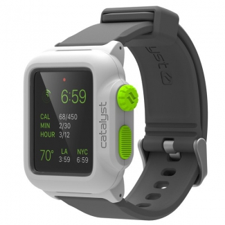 Púzdro Catalyst Waterproof case pre Apple Watch 42 mm bielo-zelené