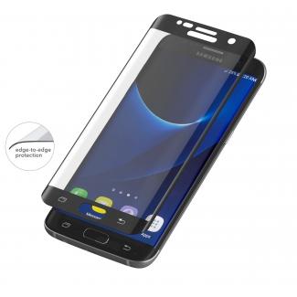 invisibleSHIELD Glass Contour pre Samsung Galaxy S7 Edge - čierny rám