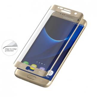 invisibleSHIELD Glass Contour pre Samsung Galaxy S7 Edge - zlatý rám