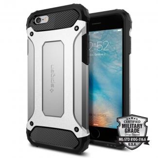 Púzdro Spigen Tought Armor TECH iPhone 6/6s čierno-strieborné
