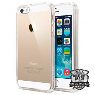 Púzdro Spigen Ultra Hybrid iPhone 5/5S/SE priesvitné