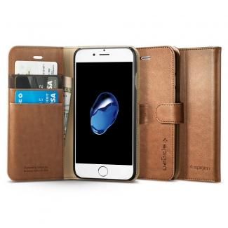 Puzdro SPIGEN  Wallet S iPhone 7 - hnedé