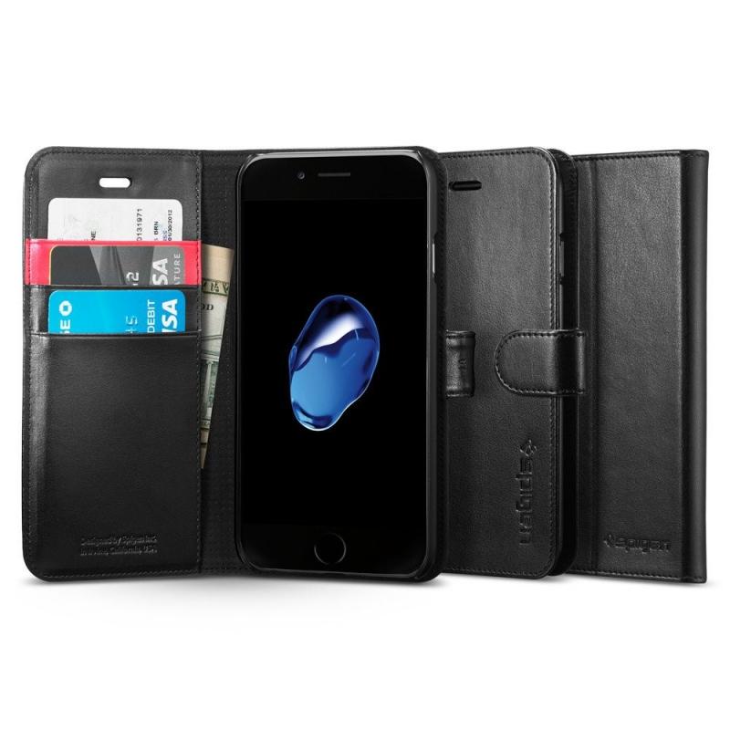 Puzdro SPIGEN Wallet S iPhone 7 - čierne
