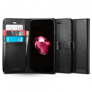 Puzdro SPIGEN Wallet S iPhone 7 Plus - čierne