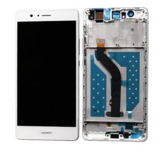 LCD displej s digitizérom a rámom pre Huawei P9 Lite - biely