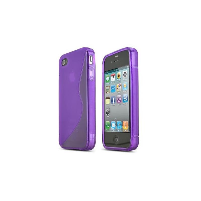 Silikónový kryt pre iPhone 4/4S - fialový