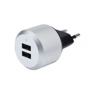 Just Mobile AluPlug duálna USB nabíjačka do zásuvky