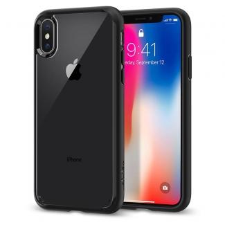 Púzdro Spigen Ultra Hybrid iPhone X čierno-priesvitné
