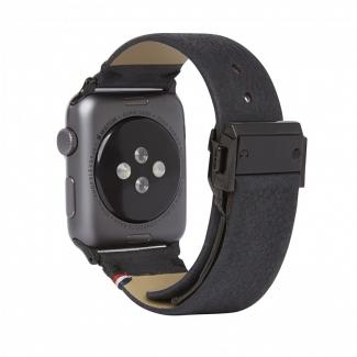 Decoded kožený náramok pre Apple Watch 42mm, 44mm - čierny