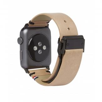 Decoded kožený náramok pre Apple Watch 42mm - sahara