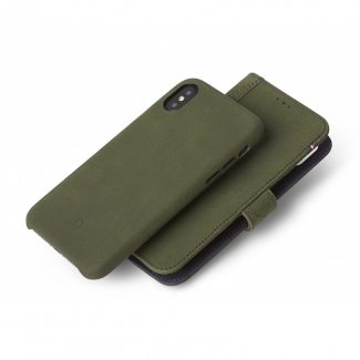 Púzdro Decoded Leather 2v1 Wallet Case pre iPhone X - Olive Green