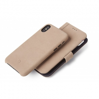 Púzdro Decoded Leather 2v1 Wallet Case pre iPhone X - Natural