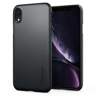 Púzdro Spigen Thin Fit iPhone XR Graphite Grey - sivé