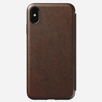 Kožené púzdro Nomad Ruged Folio pre iPhone XS Max