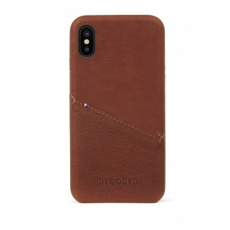 Púzdro Decoded Leather Case pre iPhone X / XS - hnedé