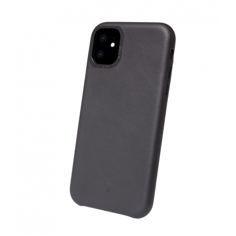Púzdro Decoded Leather BackCover pre iPhone 11- čierne