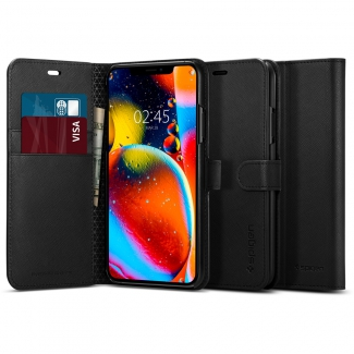 Puzdro SPIGEN Wallet S iPhone 11 - čierne