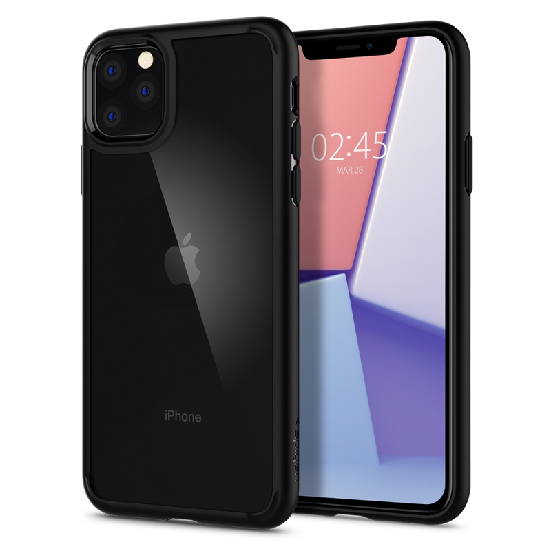 Púzdro Spigen Ultra Hybrid iPhone 11 Pro Max čierno-priesvitné