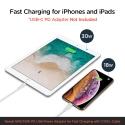 Spigen C10CL kábel pre iPhone z USB-C na Lightning - 1 m