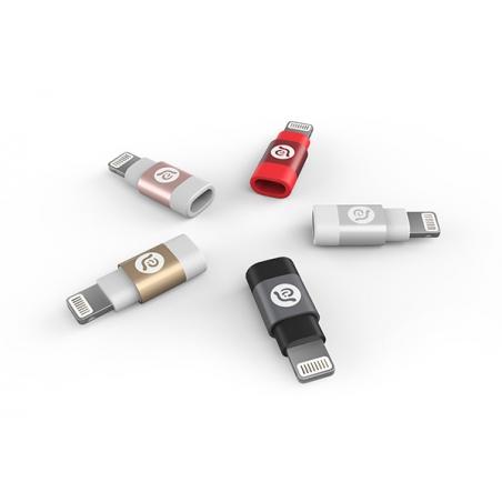 Adam Elements PEAK A1 adaptér z Micro USB na Lightning - čierny