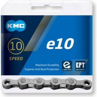 Reťaz na elektrobicykle KMC e10 EPT šedá,  136 čl.