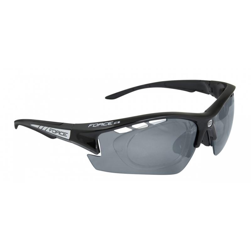 Okuliare FORCE Ride Pro čierne diop.klip, čierne laser sklá