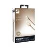 iFrogz UniqueSync Premium odolný lightning kábel pre iPhone - 1,5 m - gold