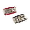 Jobsworth multikľúč - 11 nástrojov, červený