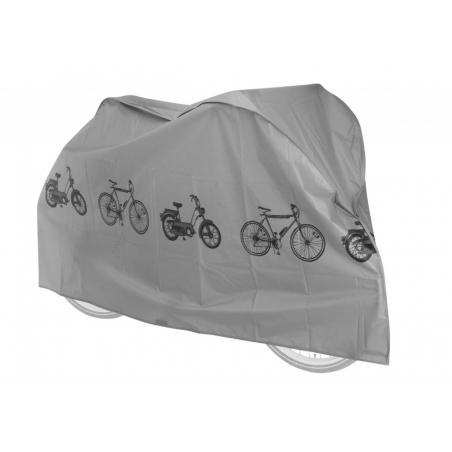 FORCE obal-plachta na bicykel 220x120x68 cm, strieborná