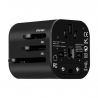 Cestovný adaptér Momax: 1 World mini AC – čierny
