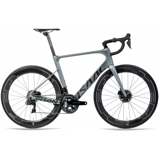 Bicykel ISAAC Meson Disc Olive Grey Ultegra R8050 Di2 55 cm