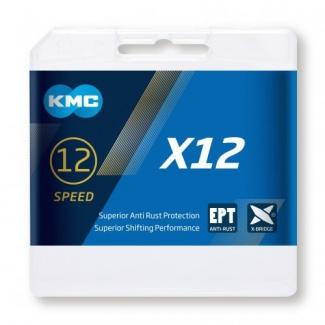 Reťaz KMC X 12 EPT strieborná,  126 čl.