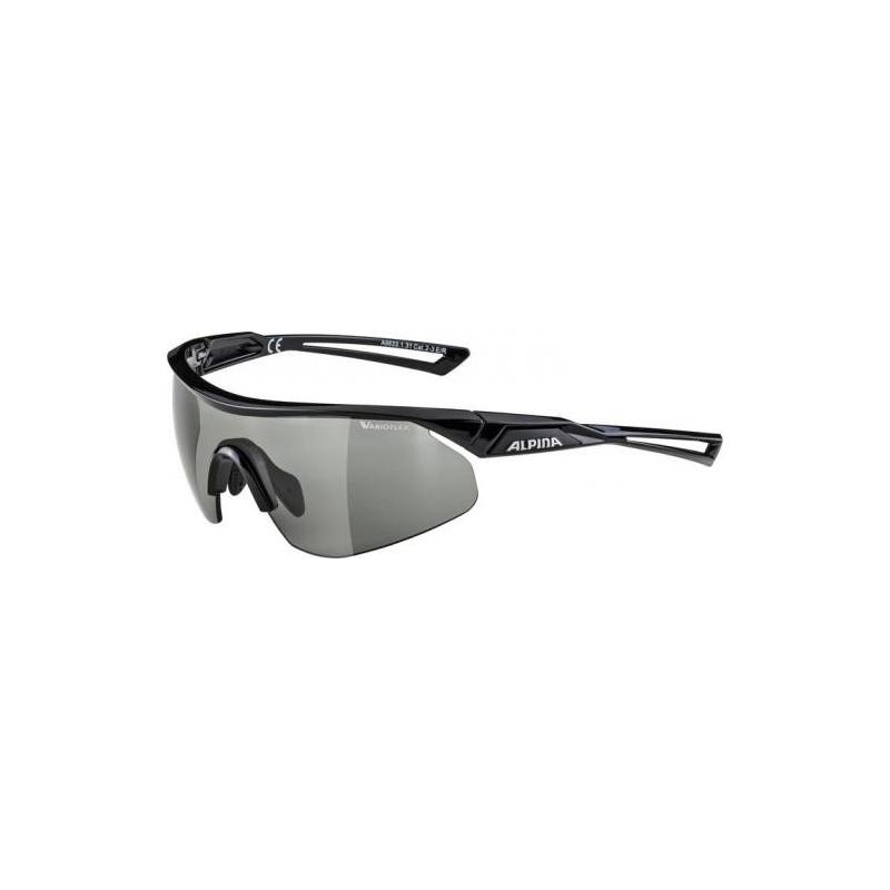 Alpina okuliare NYLOS SHIELD VL, čierne, fotochromatické sklá