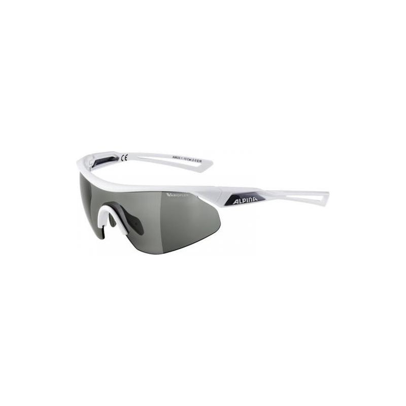 Alpina okuliare NYLOS SHIELD VL, biele, fotochromatické sklá