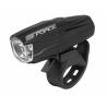Predné svetlo FORCE Shark 500LM USB, čierne