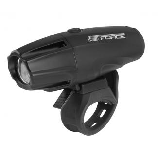 Predné svetlo FORCE Shark 700LM USB, čierne