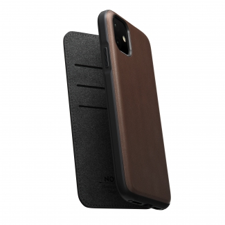 Púzdro Nomad Folio Leather case, brown - iPhone 11 Pro