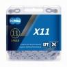 Reťaz KMC X 11 EPT strieborná,  118 čl.