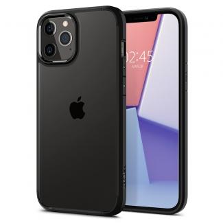 Púzdro Spigen Ultra Hybrid iPhone 12/12 Pro čierno-priesvitné