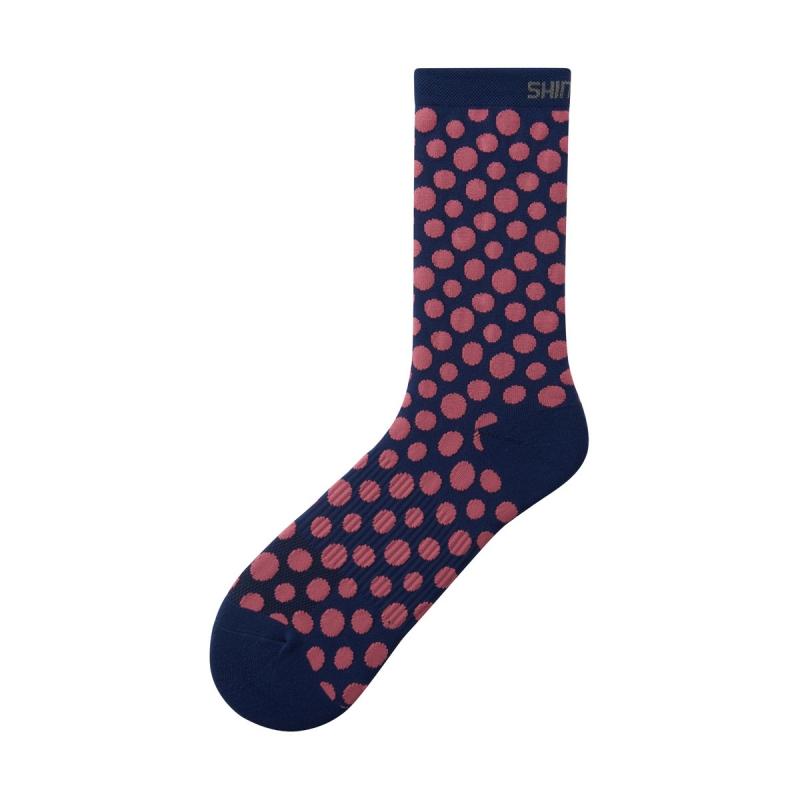 Ponožky Shimano Original Tall, modro- ružové