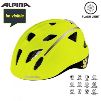 Detská prilba ALPINA Ximo Flash Be Visible reflexná, veľ. 47-51cm