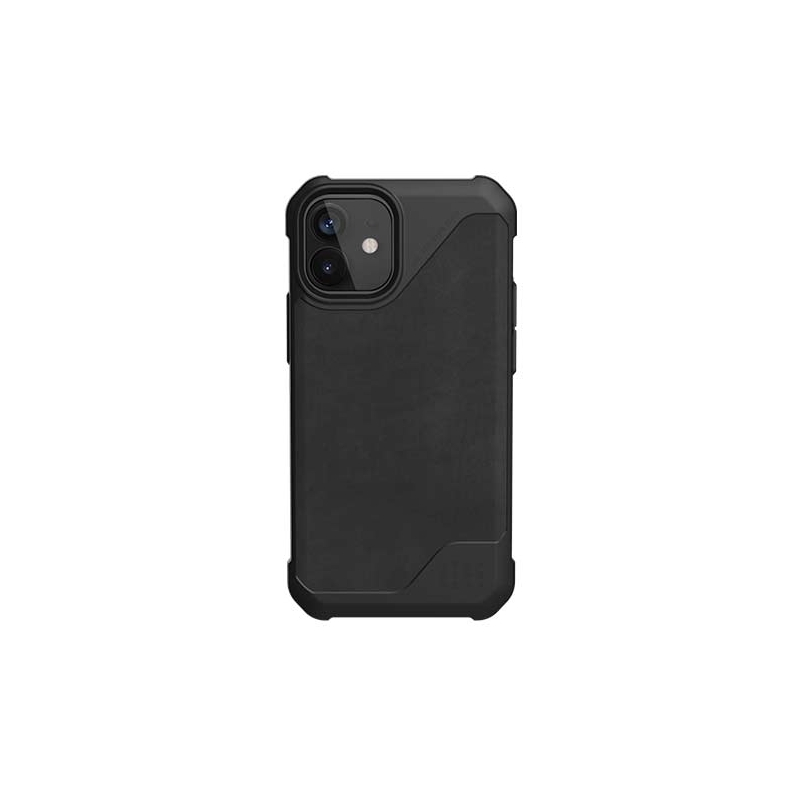 UAG Metropolis LT, LTHR black obal pre iPhone 12 mini